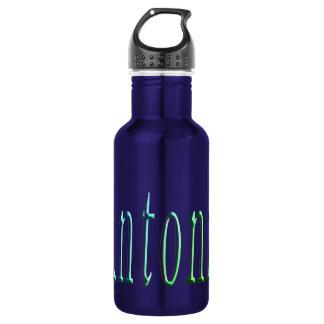 Antonio, Name, logo, Blue Reusable Water Bottle. 532 Ml Water Bottle