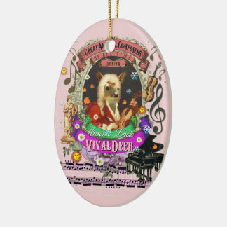 Antonio Vivaldeer Deer Animal Composer Vivaldi Ceramic Ornament