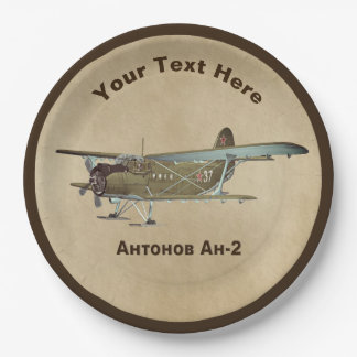 Antonov An-2 9 Inch Paper Plate