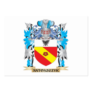 Antoszczyk Coat Of Arms Business Card Templates