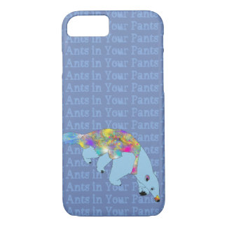 Ants in Your Pants Blue Anteater Animal Art iPhone 8/7 Case