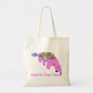 Ants in Your Pants Bright Pink Anteater Animal Art Tote Bag