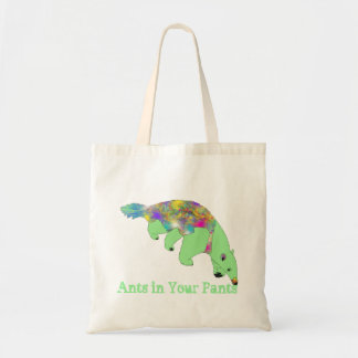 Ants in Your Pants Green Anteater Animal Art Tote Bag