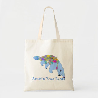 Ants in Your Pants Light Blue Anteater Animal Art Tote Bag