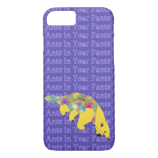 Ants in Your Pants Yellow Anteater Animal Art iPhone 8/7 Case