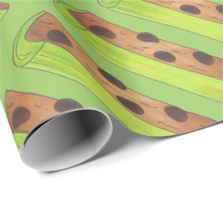 Ants on a Log Peanut Butter Raisins Celery Wrap Wrapping Paper