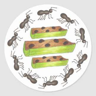Ants on a Log Stickers II