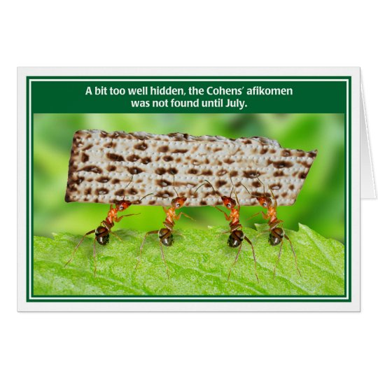 Ants Too Well Hidden Afikomen Funny Passover Card
