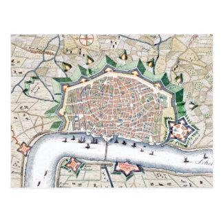 Antwerp, Antwerpen - Belgium Antique Map Postcard