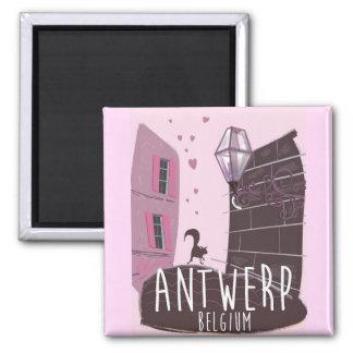 Antwerp, Belgium Travel poster Magnet