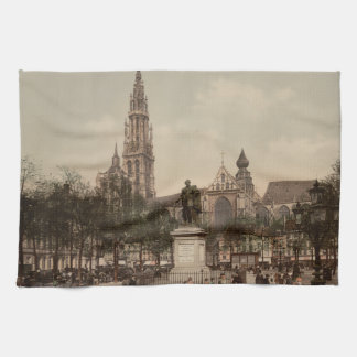 Antwerp Catherdral, Antwerp, Belgium Kitchen Towel