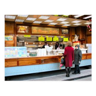 Antwerp, fast food, Belgian style, Postcard