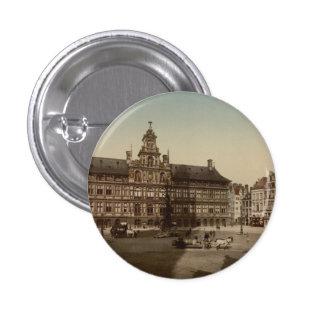 Antwerp Town Hall Antwerp Belgium Button