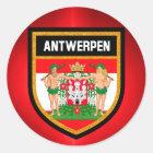 Antwerpen Flag Classic Round Sticker