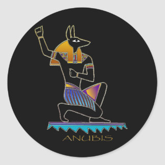 ANUBIS Ancient Egyptian God of the Afterlife Round Sticker