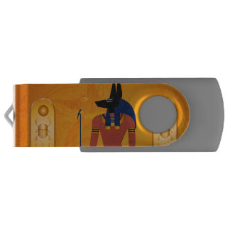 Anubis, ancient Egyptian god USB Flash Drive