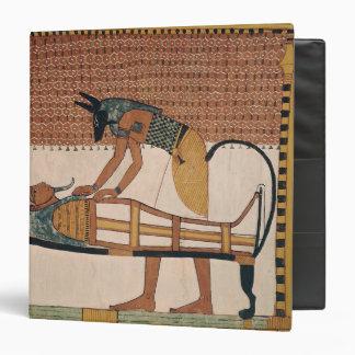 Anubis attends Sennedjem's Mummy 3 Ring Binder