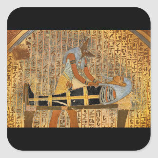 Anubis Concluding Mummification_Art of Antiquity Square Sticker