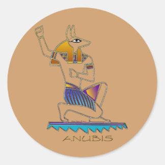 ANUBIS Egyptian God Classic Round Sticker