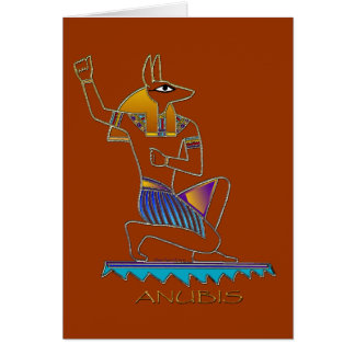 ANUBIS Egyptian God Greeting Card