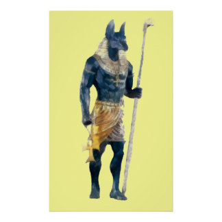 Anubis Egyptian God Poster
