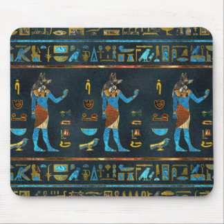 Anubis Egyptian  Gold, Blue and Red glass Mouse Pad