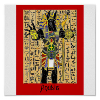 Anubis Giving Life Forever Poster