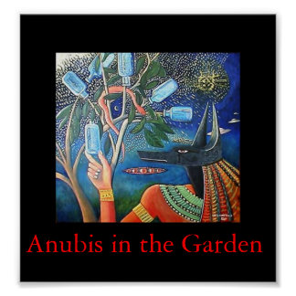 Anubis in the Garden Poster