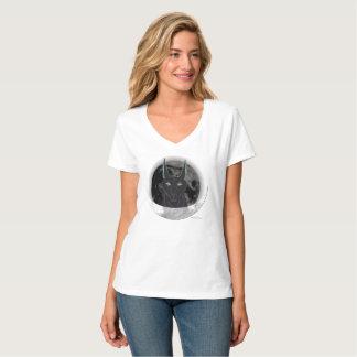 Anubis Moon Ladies Nano V-Neck T-Shirt
