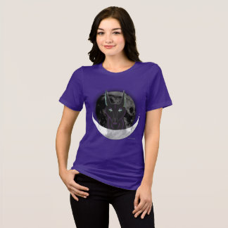 Anubis Moon Ladies Relaxed Fit T-Shirt