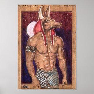 Anubis on wood: www.AriesArtist.com Poster