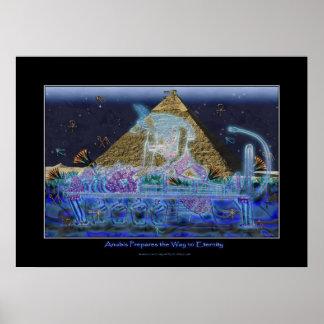 """Anubis Prepares the Way To Eternity"" Art Poster"