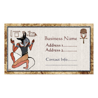 Anubis The Guardian Egyptian Pack Of Standard Business Cards