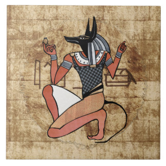 Anubis The Guardian Egyptian Tiles