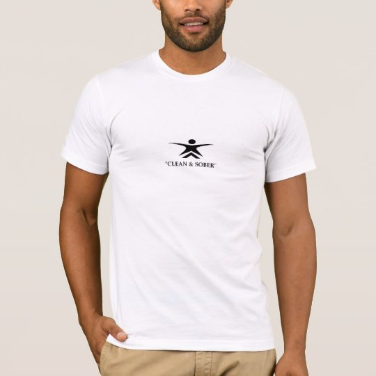 Anuemi Clean & Sober AP Men's Fitted T-shirt! T-Shirt