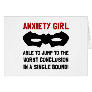 Anxiety Girl Card