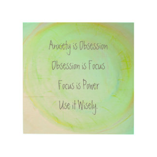 Anxiety is Powerful - Wooden Wall Art Wood Prints