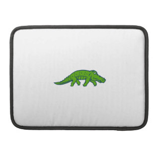 Anxious Alligator Tiptoing Retro Sleeve For MacBook Pro