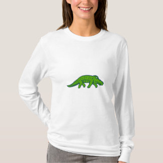 Anxious Alligator Tiptoing Retro T-Shirt