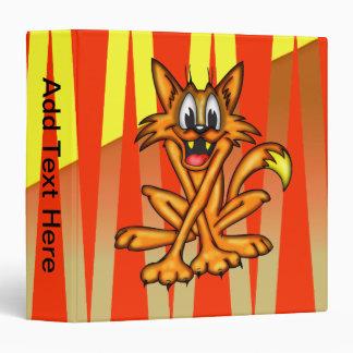 Anxious Cartoon Cat Avery Binder