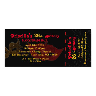 any age,26th,Invitation Ticket styl,Birthday Woman Card