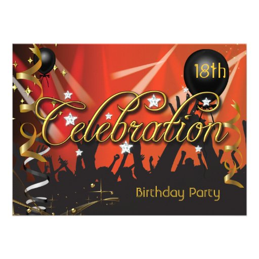 Any Age Birthday Party Celebration Teens or Adults Custom Announcements