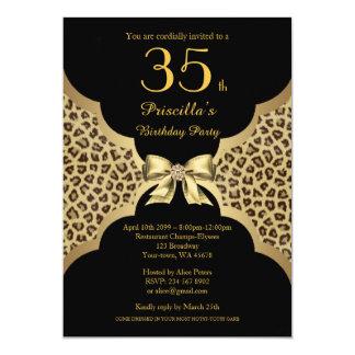 - Any age editable,Birthday Party ANY AGE,Cheetah Card