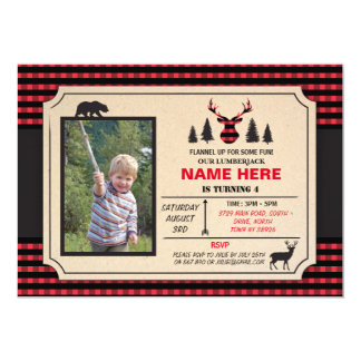 Any Age Lumberjack Birthday Invite Check Invite