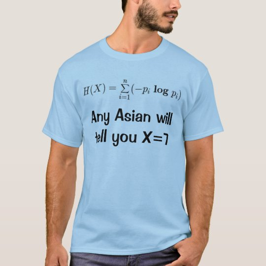 Any Asian will tell you X=7 T-Shirt