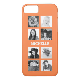 Any Color 8 Photos and Personalized Name iPhone 8/7 Case