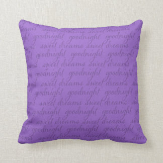 Any Color Background Goodnight Sweet Dreams Throw Pillow