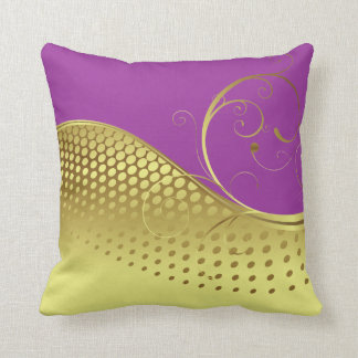 Any Color Background with Gold Design Throw Pillow