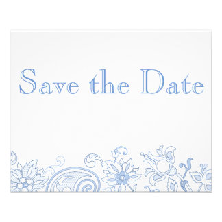 Any Color Flowers & Foliage Wedding Save the Date Flyer
