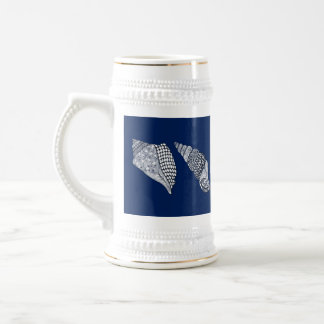 Any Color Hand Drawn Sea Shells Beer Stein
